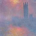 The Houses Of Parliament London by Claude Monet