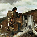 The Hunter And His Dogs by Winslow Homer