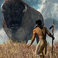 The Hunter And The Buffalo by Daniel Eskridge