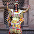 The Inca At Inti Raymi by James Brunker