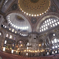 The Interior Of The Suleymaniye Mosque by Richard Nowitz