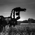 The Iron Horse Classic Black White Sculpture Art by Reid Callaway