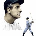 The Iron Horse  Lou Gehrig by Iconic Images Art Gallery David Pucciarelli