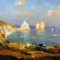 The Island Of Capri And The Faraglioni by Rosario Piazza