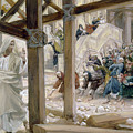 The Jews Took Up Stones To Cast At Him by Tissot