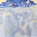 The Jung Frau Above A Sea Of Mist by Ferdinand Hodler