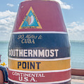 The Key West Florida Buoy Sign Marking The Southernmost Point On by Alex Grichenko