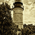 The Key West Lighthouse In Sepia by Bill Cannon
