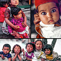 The Kids Of India Collage by Steve Harrington