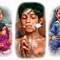 The Kids Of India Triptych by Steve Harrington