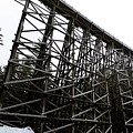 The Kinsol Trestle Panorama View On Snowy Day 1. by Andrew Kim