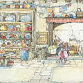 The Kitchen At Crabapple Cottage by Brambly Hedge