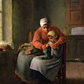 The Knitting Lesson by Jean-Francois Millet
