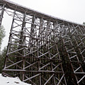 The  Koksilah River Trestle With Snow 1. by Andrew Kim