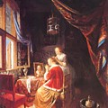 The Lady At Her Dressing Table 1667 by Dou Gerrit