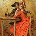 The Lady In Red by Frederick Hendrik Kaemmerer