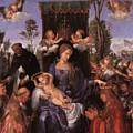 The Lady Of The Festival Du Rosaire Fragment by Durer Albrecht