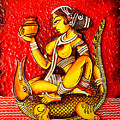The Lady On Crocodile by Rupali  Motihar