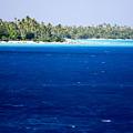 The Lagoon At Rangiroa Atoll by Tim Laman