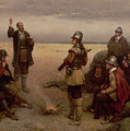 The Landing Of The Pilgrim Fathers by George Henry Boughton