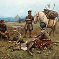 The Laplander Camp At Gleen by Johan Tiren