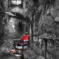 The Last Cut- Barber Chair - Eastern State Penitentiary by Lee Dos Santos