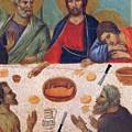 The Last Supper Fragment 1311 by Duccio