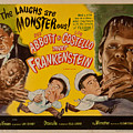 The Laughs Are Monsterous Abott An Costello Meet Frankenstein Classic Movie Poster by R Muirhead Art