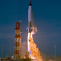 The Launch Of The Mercury Atlas by Stocktrek Images