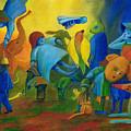 The Levitation. by Andrzej Pietal