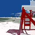 The Lifeguard Stand by David Lee Thompson