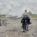 The Light Cavalryman by Giovanni Fattori