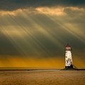 The Lighthouse As The Storm Breaks by Meirion Matthias