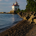 The Lighthouse At Fairport Harbor by Dale Kincaid
