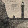 The Lighthouse At Honfleur by Georges Pierre Seurat
