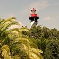 The Lighthouse In Saint Augusrtine Fl by Susanne Van Hulst