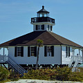 The Back Of The Port Boca Granda Lighthouse  by D Hackett