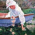 The Lily Gatherer by David Lloyd Glover