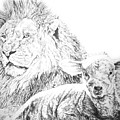 The Lion And The Lamb by Bryan Bustard