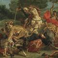 The Lion Hunt by Ferdinand Victor Eugene Delacroix