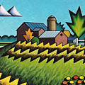 The Little Farm On The Grassy Hill by Bruce Bodden