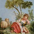 The Little Shepherdess by Francois Boucher