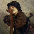 The Little Violinist Sleeping by Antoine Auguste Ernest Hebert