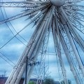 The Liverpool Wheel In Blues 3 by Joan-Violet Stretch