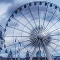 The Liverpool Wheel In Blues by Joan-Violet Stretch