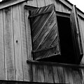 The Loft Door In Black And White by Paul Ward