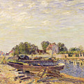 The Loing At Saint Mammes 1885 by Alfred Sisley