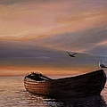A Lone Boat by Rosario Piazza