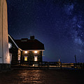 The Long Island Fire Island Lighthouse Milkyway At Night  by Alissa Beth Photography