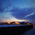 The Long Pier, Boston Ma by Karyn Regal